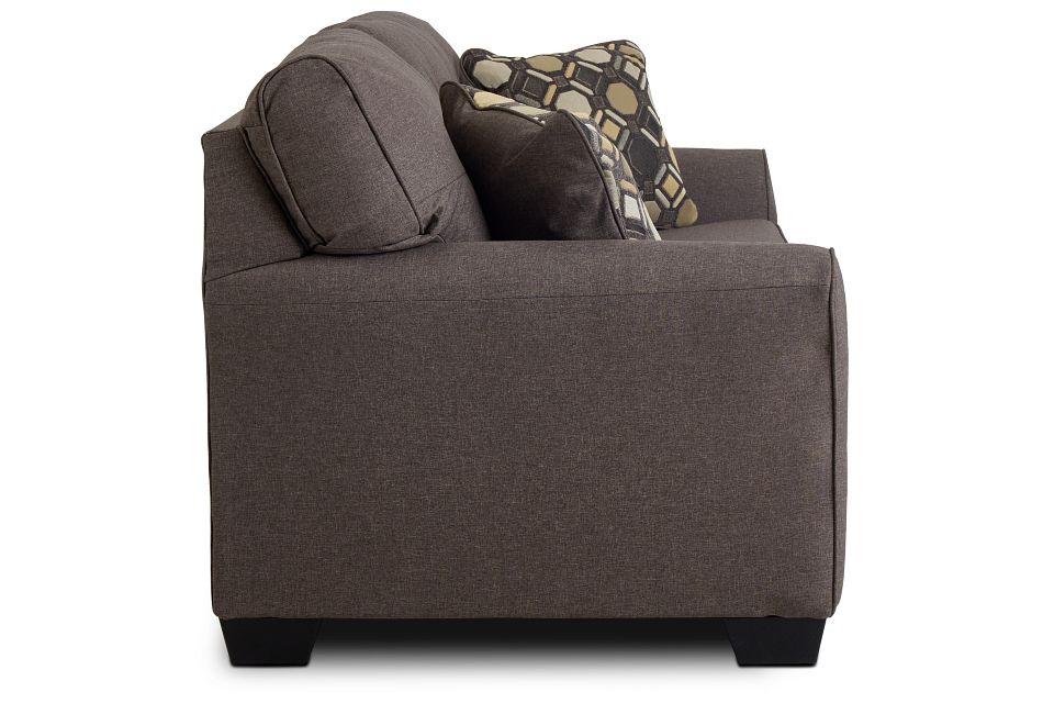 Laryn Dark Gray Micro Sofa,  (3)