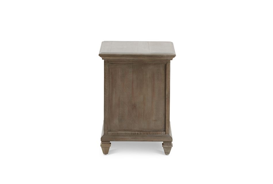 Sonoma Light Tone Wood Chairside Table