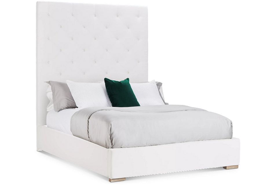 Berlin White Uph Platform Bed
