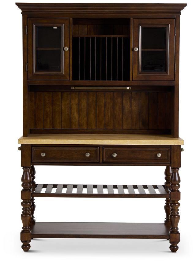 Savannah Dark Tone China Cabinet (3)