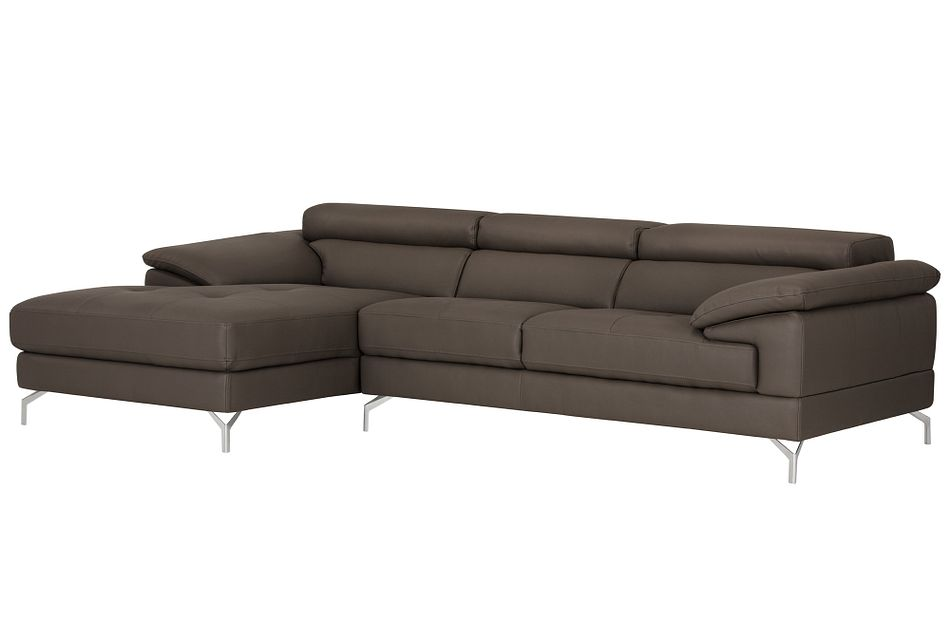 Dash Dark Gray Micro Left Chaise Sectional