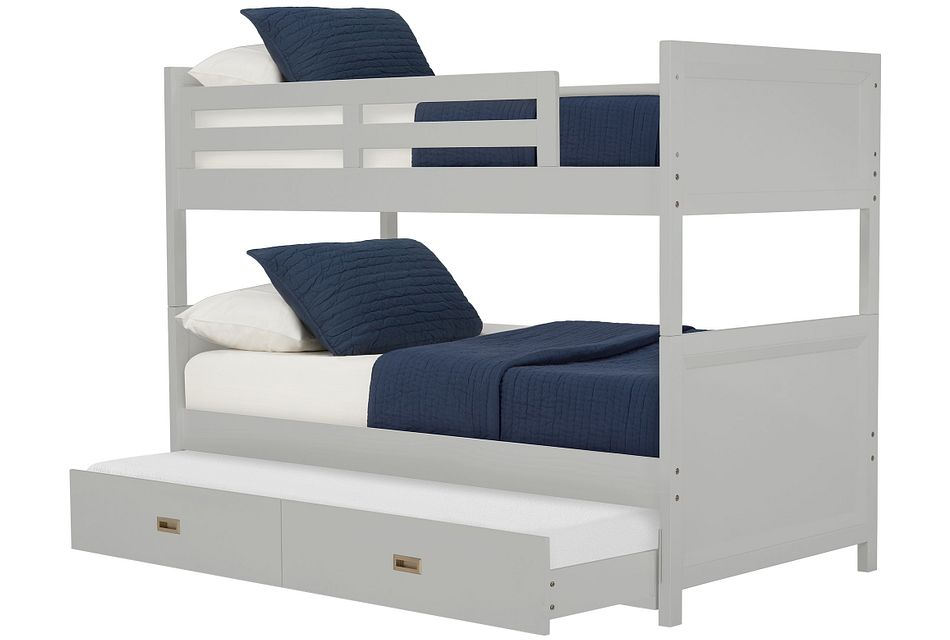 Ryder Gray Trundle Bunk Bed