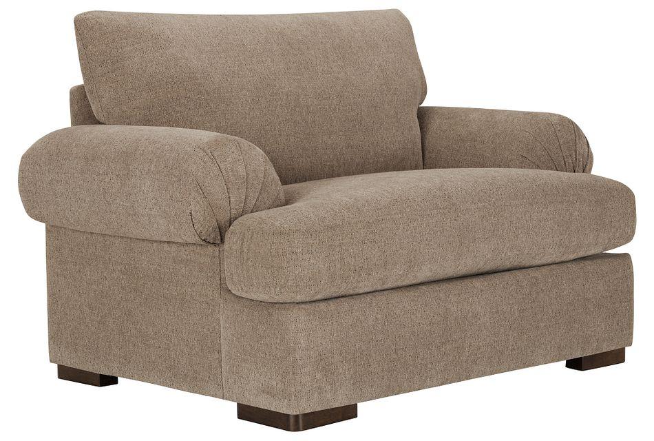 Belair Dark Taupe  Fabric Large Chair