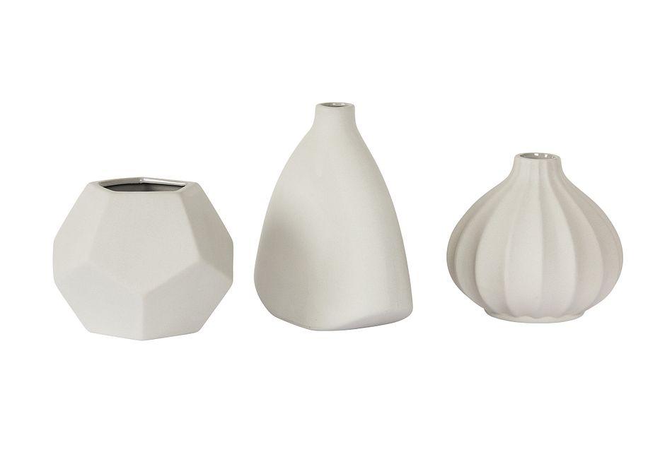 Lotus Light Gray Ceramic Vase