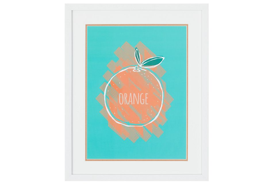 Orange Multicolored Framed Wall Art
