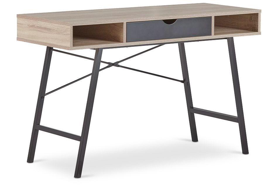 Dallas Black Two-tone Desk,  (2)