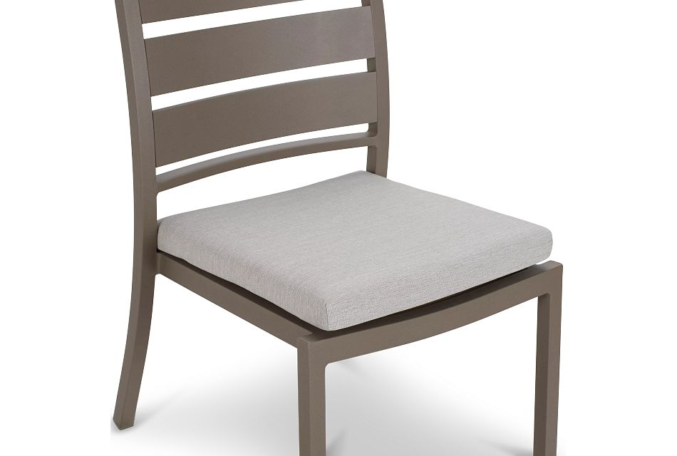 "Raleigh Gray 35"" Square Table & 4 Cushioned Chairs"