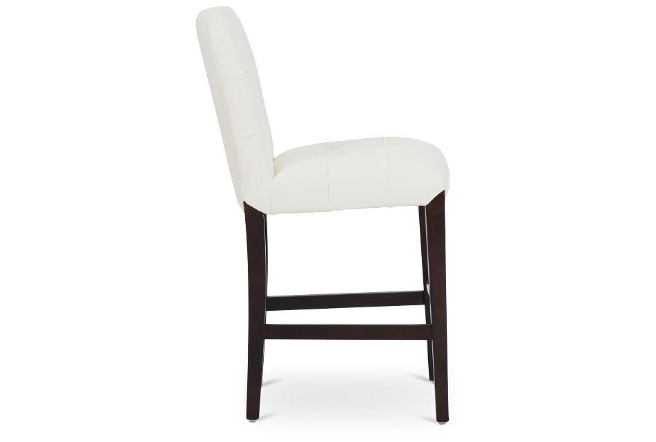 """Shelby Whitemicro 24"""" Upholstered Barstool,  (2)"""