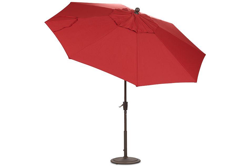 Maui Red Umbrella Set
