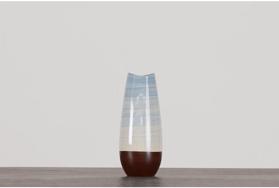 """Rilynn Blue 14"""" Vase"""