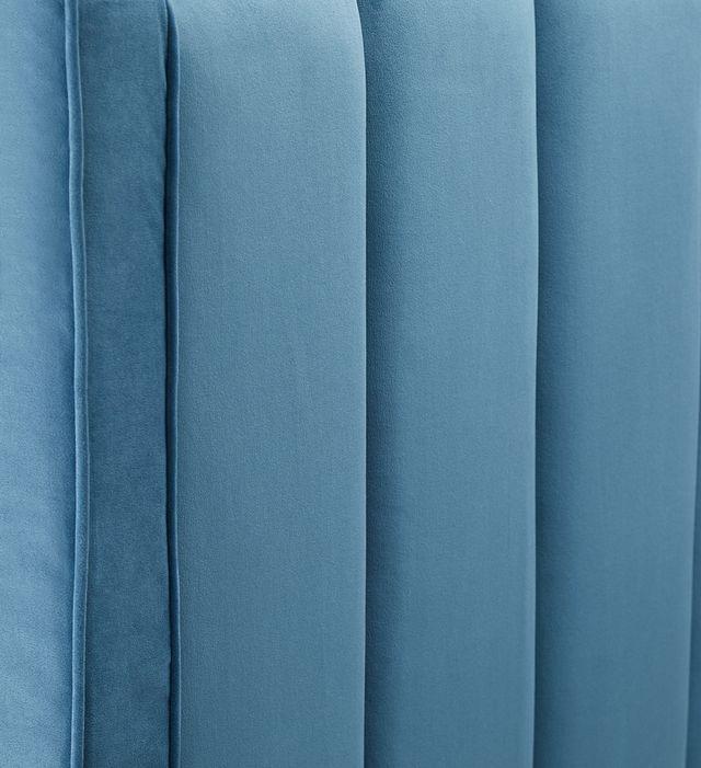 Audrey Blue Velvet Platform Bed (1)