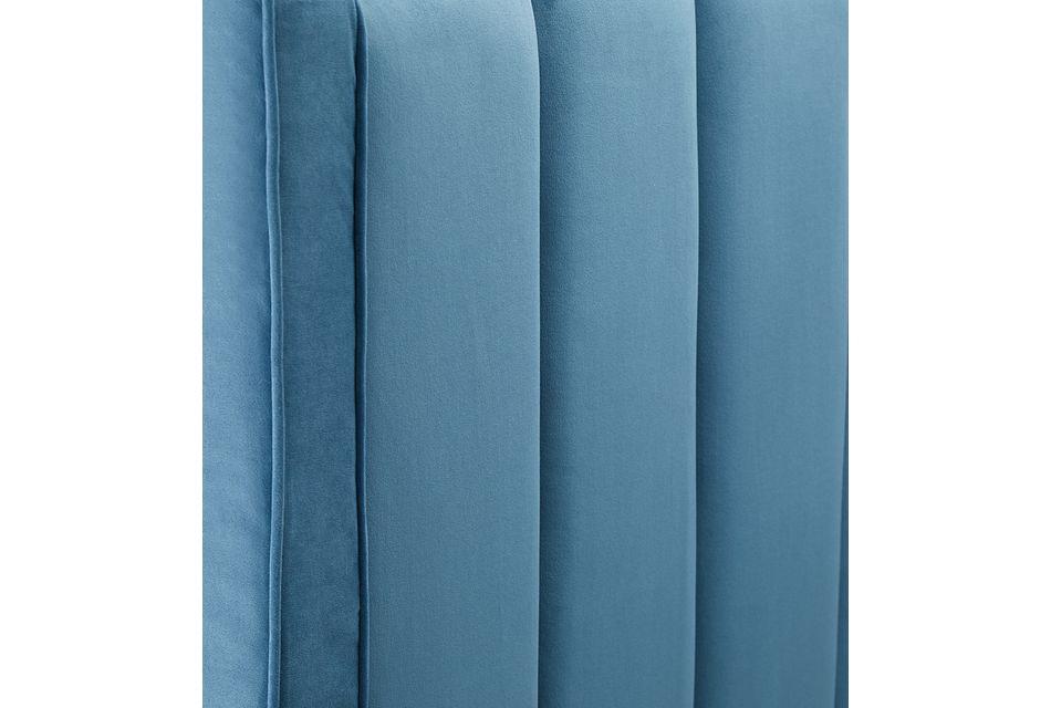 Audrey Blue Velvet Platform Bed