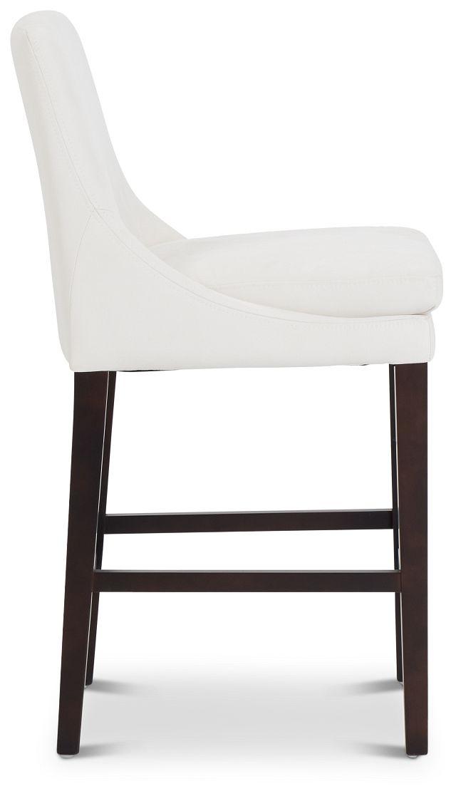 """Tito White 24"""" Upholstered Barstool (2)"""