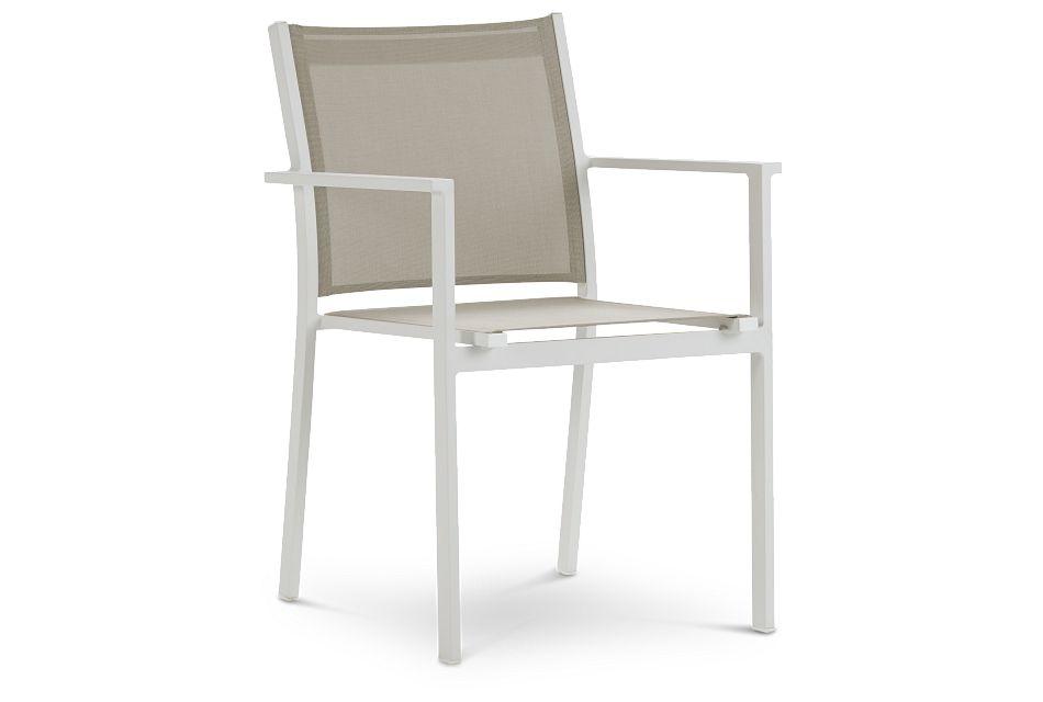 Aventura Champagne Aluminum Sling Arm Chair