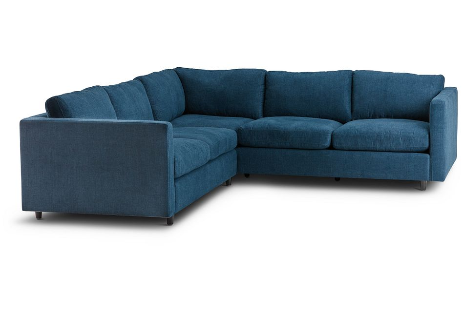 Simone Dark Blue  MICRO Small Two-Arm Sectional