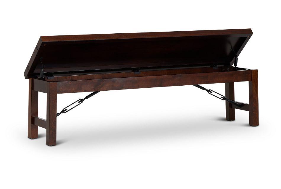 Napa Dark Tone Storage Dining Bench,  (3)