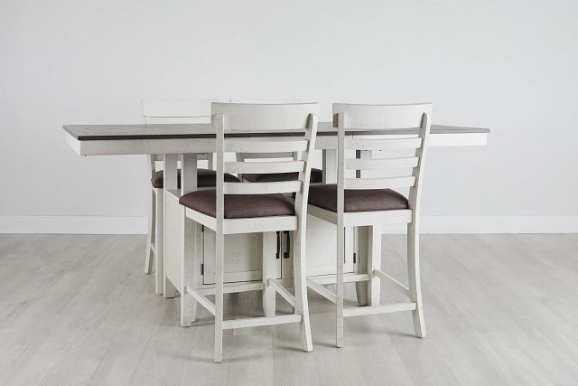 Huntsville Two-tone Rect High Table & 4 Barstools (0)