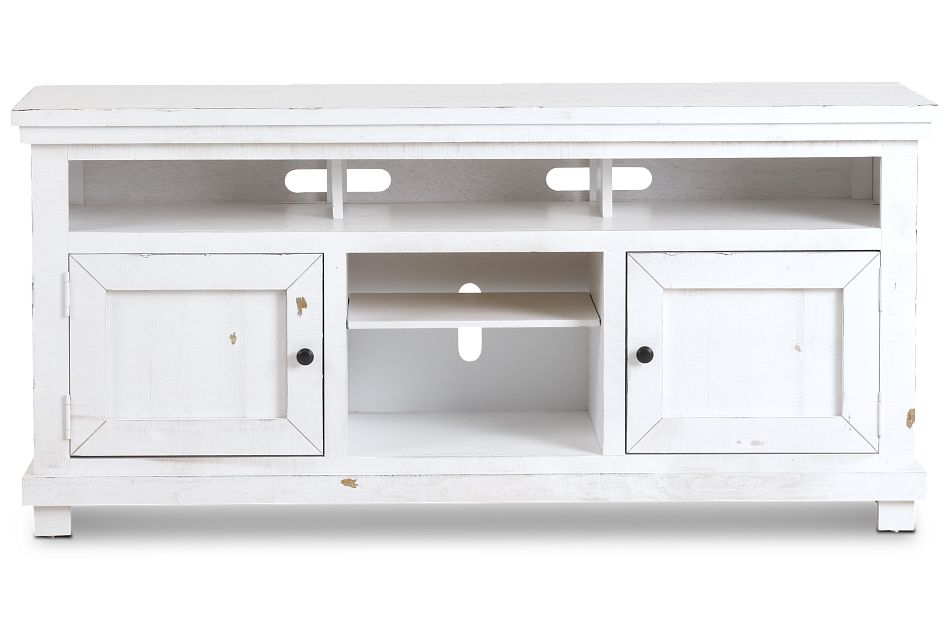 """Willow White 64"""" Tv Stand,"""