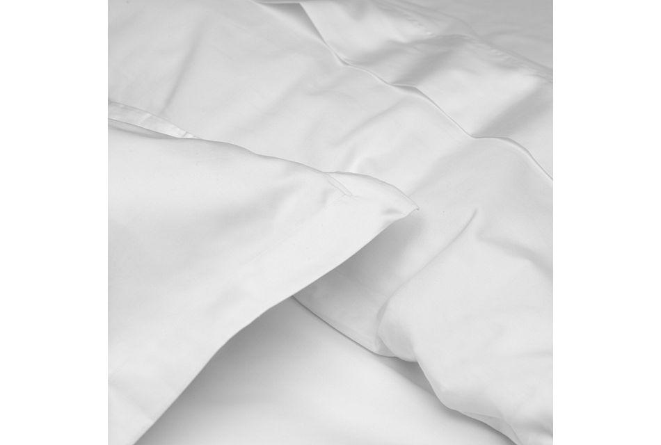 Cotton Sateen White 300 Thread Duvet Set