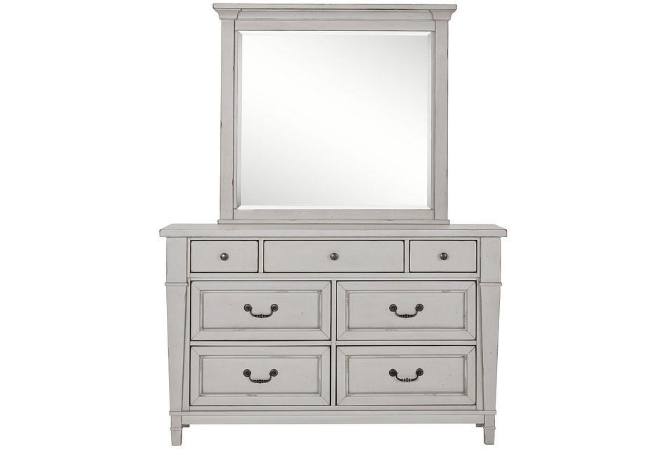 Stoney Gray Dresser & Mirror