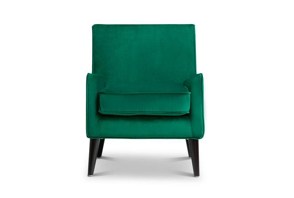 Angie Dark Green  Velvet Accent Chair,  (1)