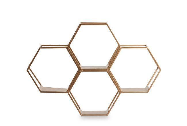 Gala Gold Wall Shelf