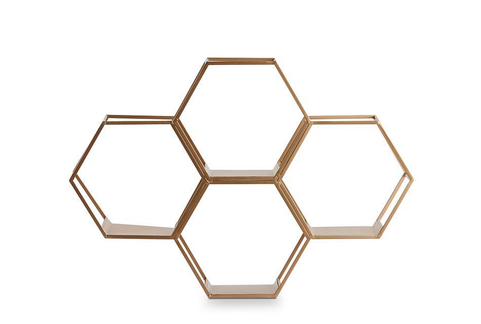 Gala Gold  Wall Shelf,  (1)