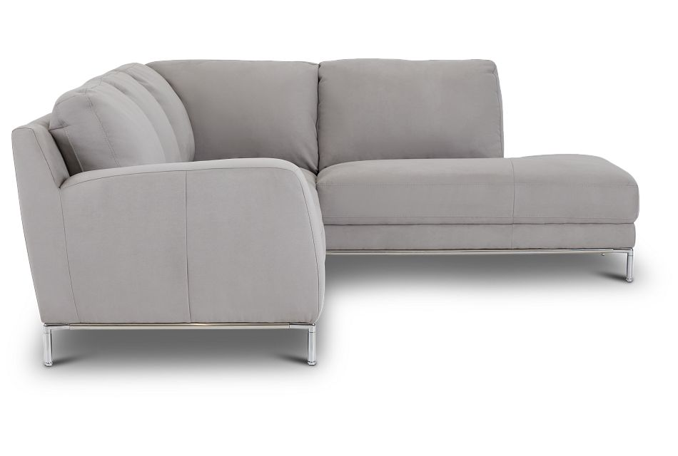 Wynn Light Gray Micro Right Chaise Sectional,  (2)