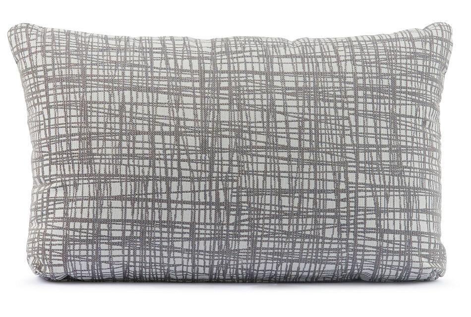 Hugo Gray Lumbar Accent Pillow