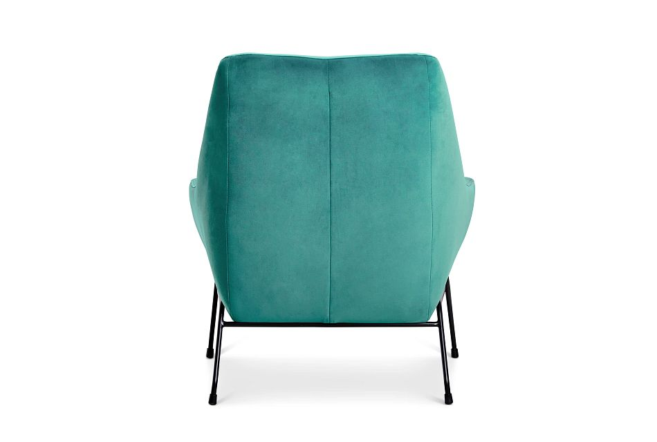 Xena Dark Green Velvet Accent Chair