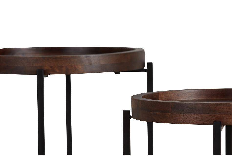 Crue Dark Tone Set Of 2 Nesting Tables