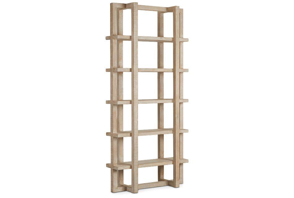 Hancock Light Tone Wood Bookcase,  (2)