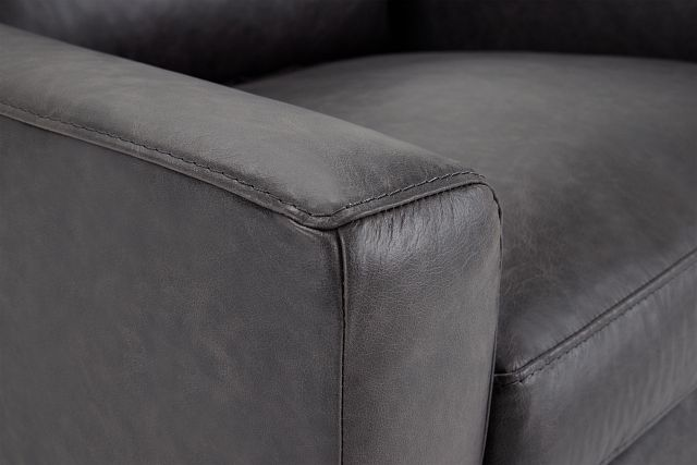 Bohan Black Leather Chair