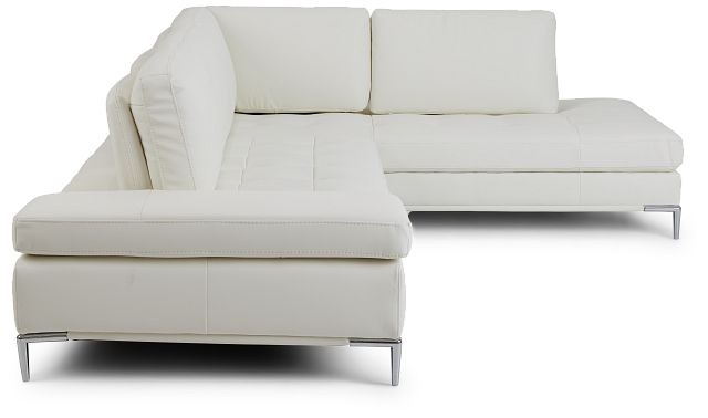 Camden White Micro Right Chaise Sectional (2)