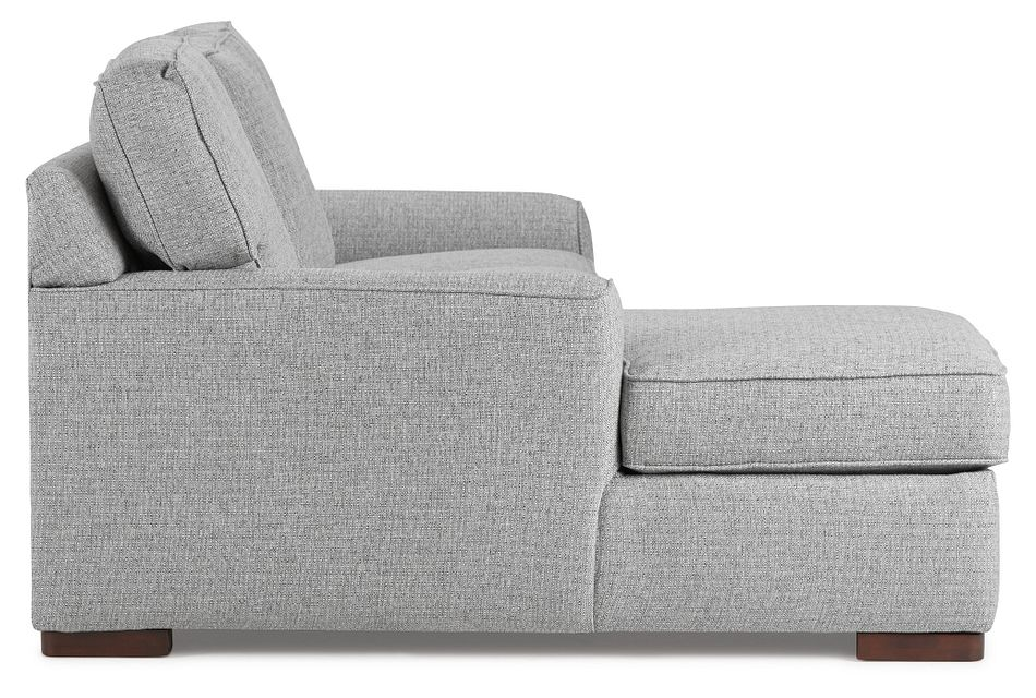 Austin Gray Fabric Left Chaise Sectional,  (3)