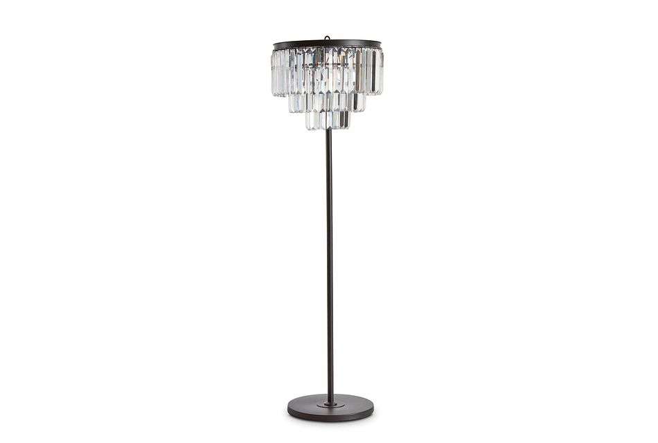 Audrey Black Floor Lamp