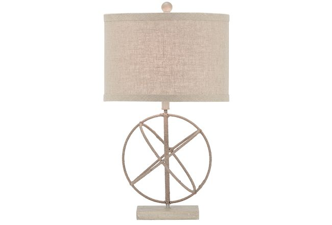 Caswell Beige Table Lamp