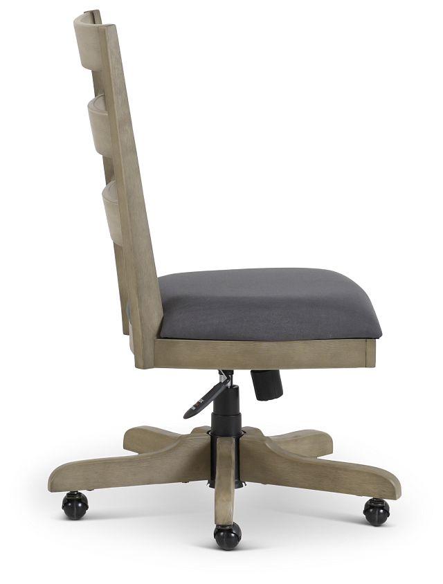 Vista Light Tone Wood Desk Chair (2)