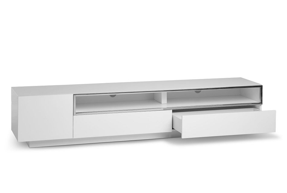 """Vancouver WHITE 86"""" TV Stand"""