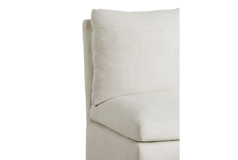 Auden Light Beige Castored Upholstered Side Chair