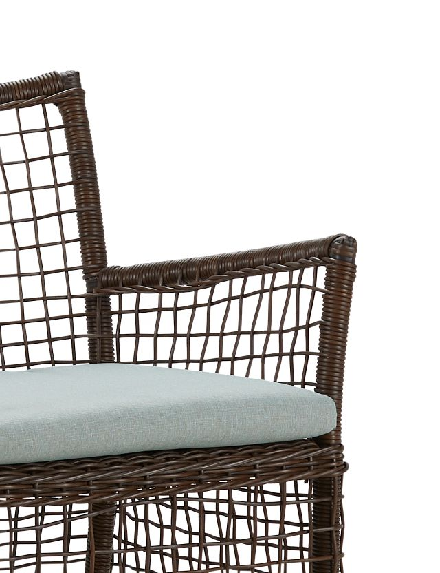 Southport Teal Woven Arm Chair (3)
