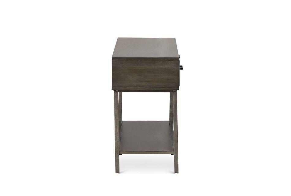 Fulton Dark Tone Wood Storage Sofa Table