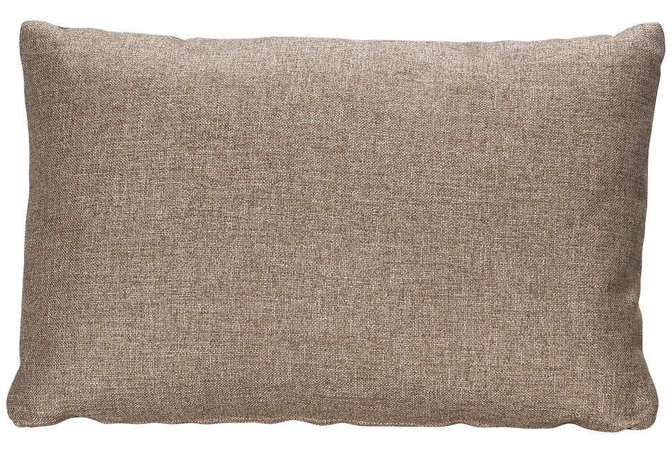 Harper Dark Taupe Fabric Rectangular Accent Pillow