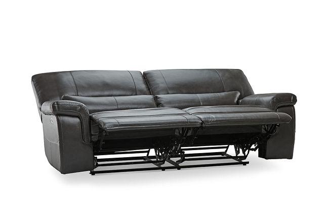 Weston Dark Gray Lthr/vinyl Power Reclining Sofa (3)