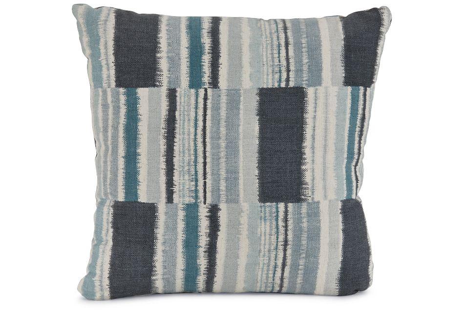 """Seydou Dark Blue Fabric 20"""" Accent Pillow,  (1)"""