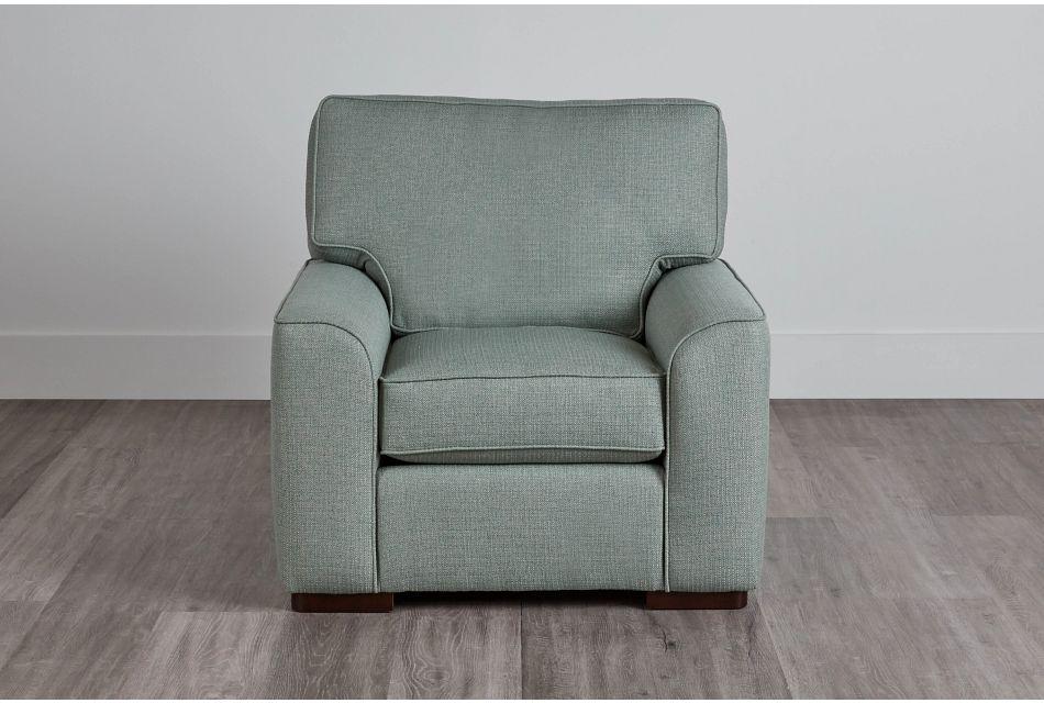 Austin Green Fabric Chair,  (0)