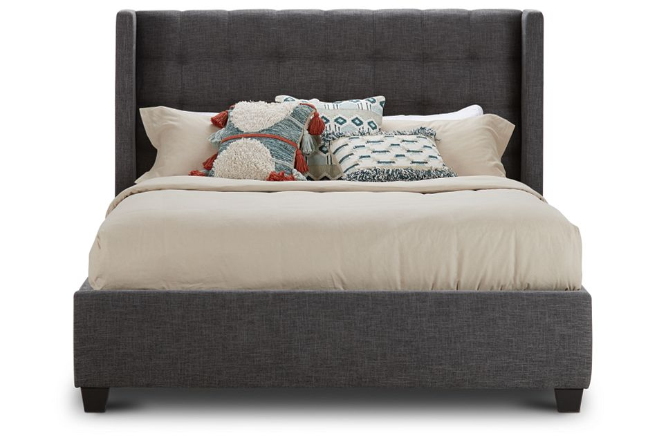 Chatham Dark Gray Low Platform Bed