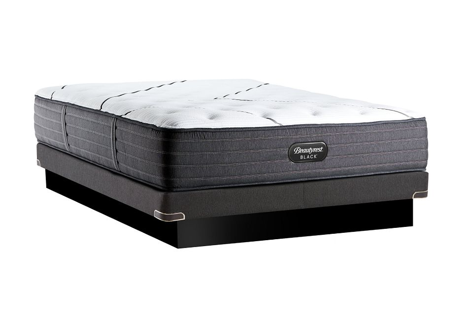 Beautyrest Black L-class Plush Low-profile Mattress Set