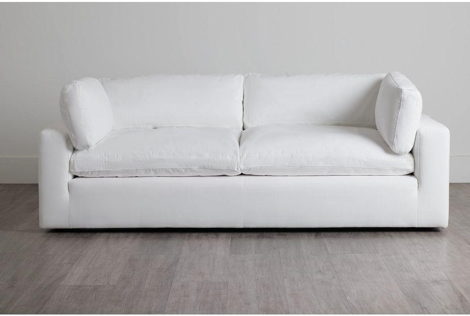 Grant White Fabric Sofa,  (0)