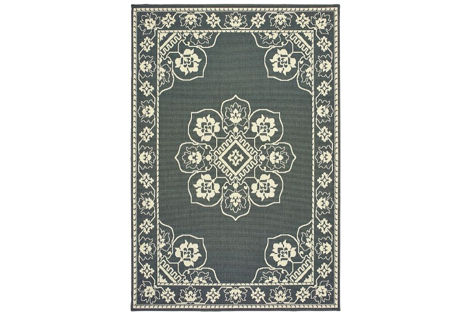 Marietta Gray Indoor/outdoor 5x8 Area Rug